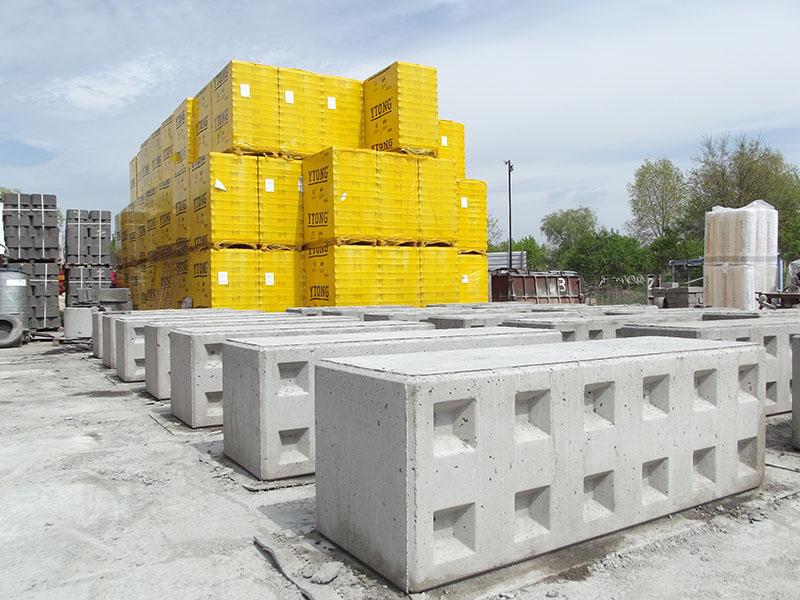 Bloki betonowe, mury oporowe prefabrykowane - producent prefabrykatów betonowych Bruko-Bud