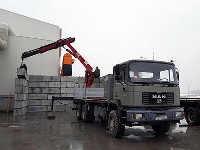 Bruko Bud transport materiałów budowlanych z HDS