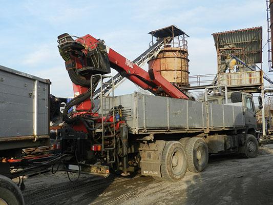 Transport materiałów budowlanych z HDS Bruko Bud Nakło n/Notecią